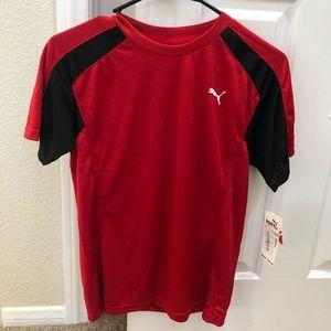 Puma Boys Medium Red and Black Shirt